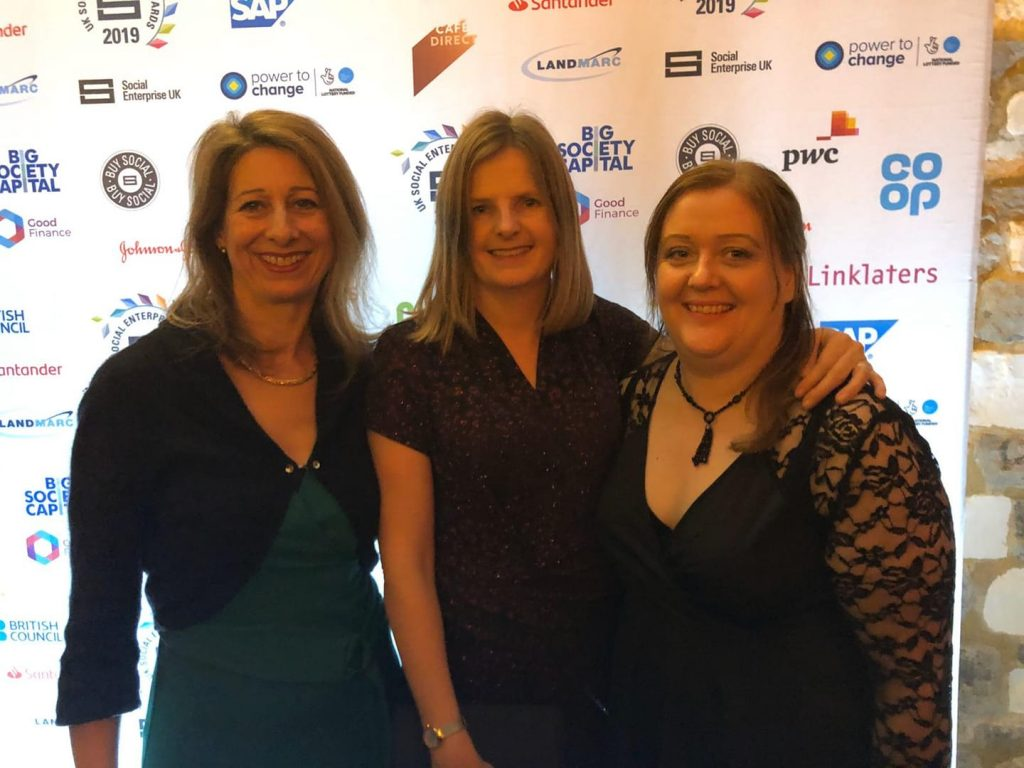 SEEE representatives at the Social Enterprise Awards 2019